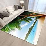 koushuiwa Crawling Mat Bedroom Palm Tree Sea Beach Carpet...