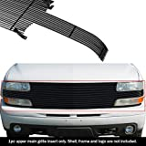 APS Compatible with 1999-2002 Chevy Silverado 1500 2000-2006 Suburban Tahoe Black Billet Grille Grill Insert S18-H52058C