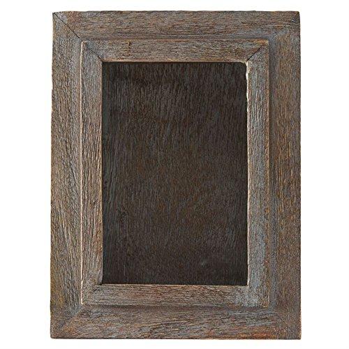 Mud Pie Farmhouse Inspired Distressed Wood Shadowbox Shadow Box, Brown