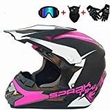 WYWZDQ - Cascos de motocross MX para motocross, cascos de ciudad, cascos y guantes de moto con diseño de glass D.O.T Standard Quad casco de bicicleta de montaña Go-Kart (M)