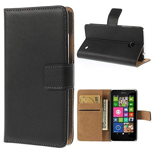 Xaiox® Nokia Lumia 635 630 Bookstyle Tasche in schwarz
