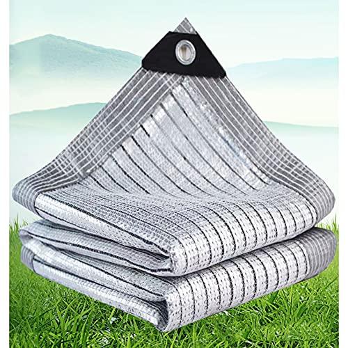 Auto Schattennetz für Hunde, Hitzeschutz Alunetz für's Auto, 85% Aluminet Sonnenschutznetz mit Ösen - Schattiernetz Sonnenschutz für Gewächshaus Balkon Terrasse Carport (Size : 3×4m)