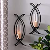 Set of Two Metal Wall Sconces Home Decor...