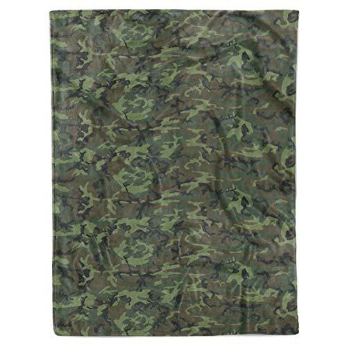 ERDL Camouflage Camo Pattern Birthday Christmas Fleece Sherpa Blanket Bed Throw Tapestry Wall Hanging (ERDL Camo, Fleece - 50x60)