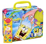 SpongeBob Squarepants Coloring and Activity Tin Box, Crayons Stickers Mess Free Craft Kit for Toddlers Boys Girls Kids, Gift Boutique Bookmark Included