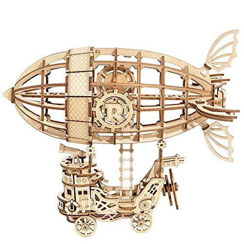 Robotime 3D-Puzzle Luftschiff 18 cm Holz Natur 176-teilig