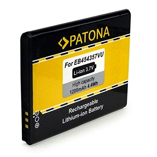 PATONA Batteria EB454357VU 1200mAh compatibile con Samsung Galaxy Pocket GT-S5300, Galaxy Young Y GT-S5360 GT-S5368