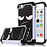iPhone 5C Case,iphone5C Case,Kmall 2in1 High Impact Resistant Hybrid Dual Layer Heavy Duty Full-Body Matte Rugged Creative Funny Protective Bumper Case Skin Cover for iPhone 5C (Don't Touch My Phone)