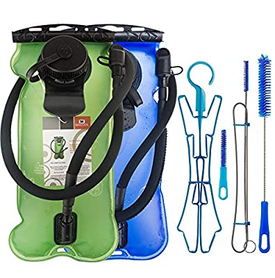 WACOOL 3L 3Liter 100oz BPA Free EVA Hydration Pack Bladder, Leak-Proof Water Reservoir (2pc Bladders with Clean Kit)