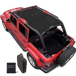commercial Shadeidea Sun Visor for Jeep Wrangler JL Unlimited (from 2018) 4-door Front  Rear-Black… jeep sun shades