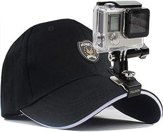 Fotografía Al Aire Libre Esencial Soporte De Clip De Mini Sombrero para Xiaomi Yi 4K GoPro Hero 7/6/5/4 Sesión Sjcam Sj4000 Eken H9 H9r Acción Cámara Mochila Accesorios (Colour : Black)