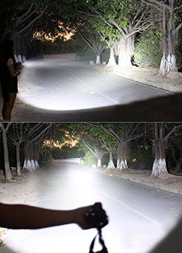 3000 Lumen Scheinwerfer, Taschenlampe 3 XM-L T6 LED, Wand-Ladegerät und der Akku, Wandern, Camping, Reiten, Angeln, Jagen, Outdoor-Abenteuer. - 5
