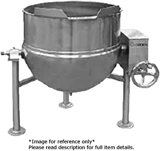 Groen DL-80-80,INA/2 Direct Steam (2) 80 Gallon Kettles, Manual Tilting Kettle with Shared Inclined Agitator
