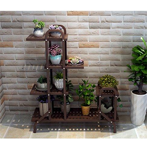 Les supports multifonctionnels de fleur de fer de Brown/tiennent le support élégant élégant d'intérieur de plancher de fleur de style de plancher de balcon de salon