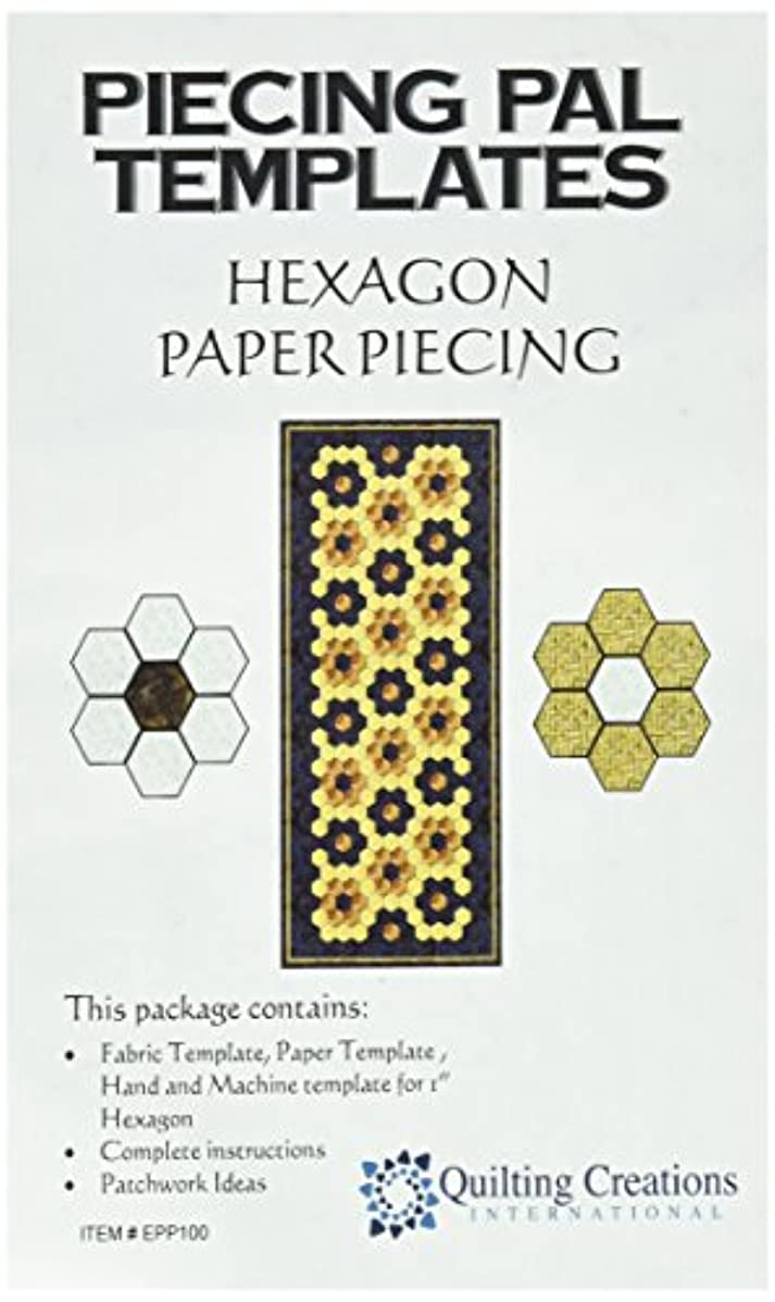 Quilting Creations Template Piecing Pal Paper Piecing Hexagon English Style Stencil