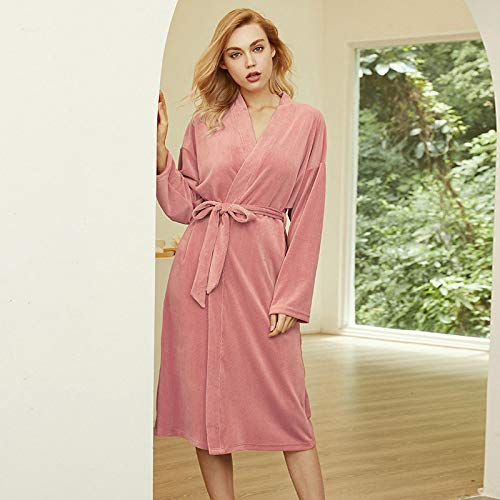 STJDM Bata de Noche,Winter Blue Pink Fashion Sexy Pajama...