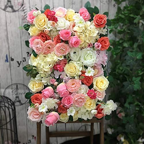 TTIK Rose Bloemen Muur - Trellis Privacy Hedge Kunsthek Kunstsimulatie Rose Bloem Muur Outdoor Natuurlijke Schermen Decoratie