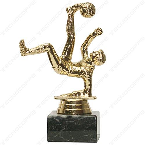tecnocoppe Trofeo Calcio h 15,00 cm Premiazione - Targhetta Personalizzata Omaggio