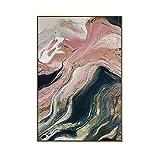 GQKLSA Abstrait Montagne Rivière Affiche Impression Toile Peinture Image Mur Art Wall Sticker 50x70 cm