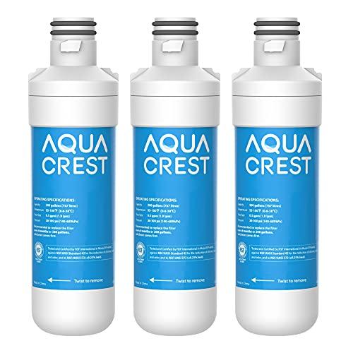AQUACREST LT1000PC ADQ747935 MDJ64844601 NSF Certified Refrigerator Water Filter, Replacement for LG LT1000P, LT1000PC, LT1000PCS, ADQ74793501, ADQ74793502, Kenmore 469980, 9980, Pack of 3