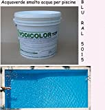 10 kg smalto membrana all 'acqua vernice azzurro chiaro piscine piscina resistente al cloro pittura adatta per piscine in cemento 10 kg per 30-50 metri quadr