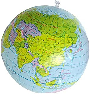 30cm Inflatable Globe World Earth Ocean Map Ball Geography Learning Educational Beach Ball Kids Toy