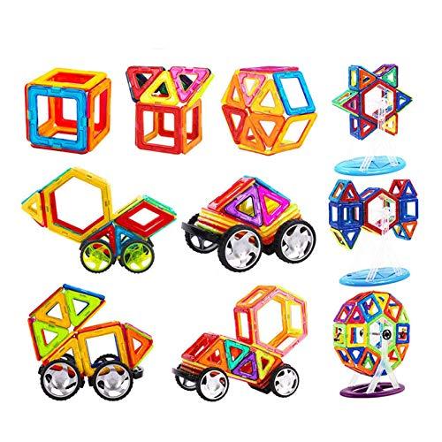 Ardentity Magnetische Bausteine 105 Teile Konstruktion Bauen Blöcke Set, Perfekt für Einsatz zu Hause in Kindertagesstaetten, Kinder ab 3 Jahre