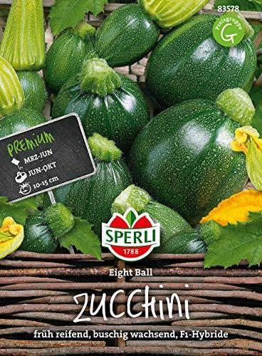 83578 Sperli Premium Zucchini Samen 8 Ball | Früh | Ertragreich | Runde Zucchini | Zuchini Saatgut | Zucchini Rund