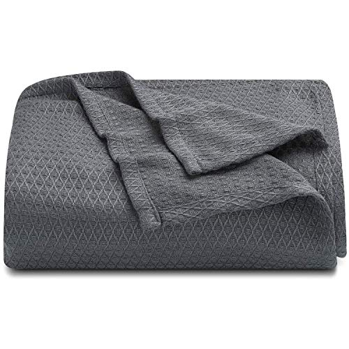 LAGHCAT Cooling Blankets for Sleeping, Cooling Summer Blanket for Hot Sleepers, Ultra Cool, Cold, Lightweight, Light, Thin Bamboo Blanket for Summer Night Sweats (59'x79', Dark Grey)
