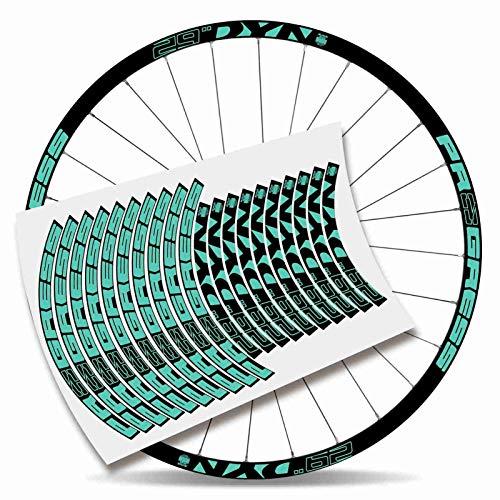 Kit adesivi bicicletta Stickers cerchione Rim Progress DYN 29' MTB BTT B (verde menta)