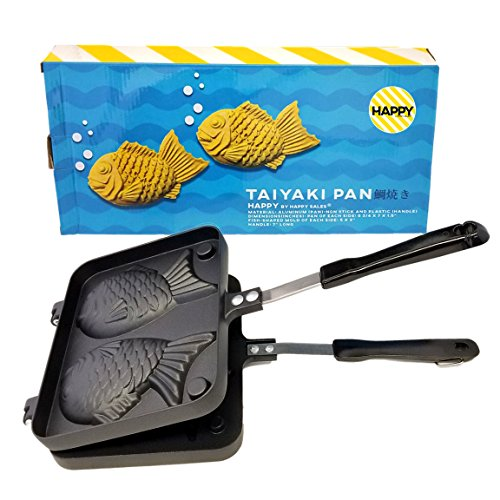For Sale! Happy Sales HSTYK1,  Taiyaki Pan Fish shape, 8W x 2H x 12L, Black
