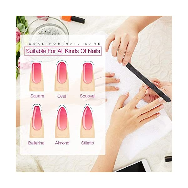 Beauty Shopping Nail Files and Buffer, TsMADDTs Professional Manicure Tools Kit Rectangular Art Care
