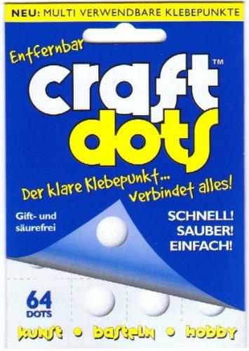 CraftDots beidseitig klebende transparente Klebepunkte, ablösbar, 64 Stück