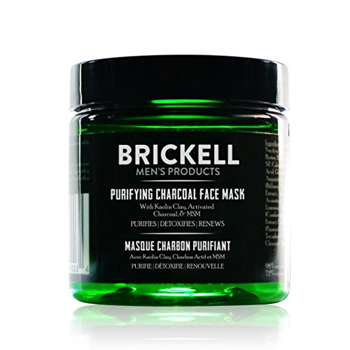Brickell Men's Purifying Charcoal Face Mask - Natürliche und organische Aktivkohle Maske - Gesichtsmaske mit entgiftender Kaolin Tonerde - Männer Facemask gegen unreine Haut - 118 ml - Parfümiert