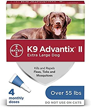 4-Month Supply K9 Advantix II Flea and Tick Prevention (Extra-Large Dogs)