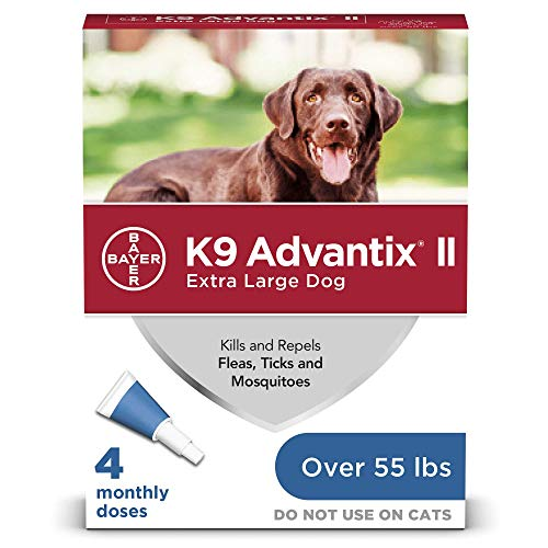 K9 Advantix II Flea and Tick Prevention for Extra-Large Dogs 1-Pack 4 Monthly Doses, Over 55 Pounds