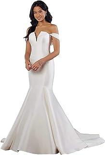 Lilyla Womens Off The Shoulder Wedding Gowns A Line Mermaid Wedding Dresses for Bride