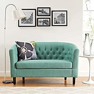 Modway Prospect Upholstered Contemporary Modern Loveseat In Laguna