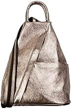 Primo Sacchi Italian Leather Metalic Bronze Top Handle Shoulder Bag Rucksack Backpack