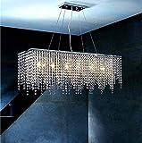 ZHXZHXMY Boutique Lighting - Il Nuovo Modo di Fascia Alta Fringe L800mm * W180mm * H280mm Lampadario di Cristallo Lampadario di Cristallo Lampadario Cascata Soggiorno Illuminazione