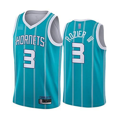 YZQ Jersey Men's, NBA Charlotte Hornets # 3 Terry Rozier - Ropa Deportiva De Baloncesto Classic Flojo Comfort Chalecos Tops, Camisetas Sin Mangas Uniformes,Azul,XL(180~185CM)
