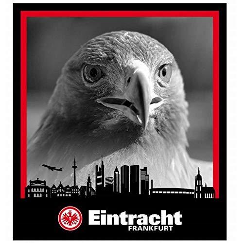 Eintracht Frankfurt Coralfleecedecke Adler über Skyline 150x200 cm