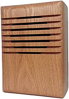 YourBell MP3 Door Chime, Programmable DoorBell, Oak With Clear Coat. Made In The USA By BCS Ideas Corporation.