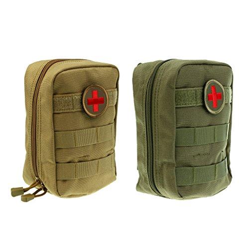 MagiDeal 2pcs Poche pour Kit Medical Sac Mini De Premiers Soins Pochette EMS Chasse Pochette Portable