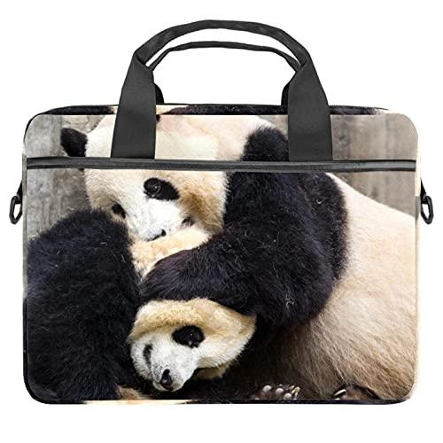 Panda Animal 13.4-14.5 pulgadas Portátil Maletín de Lona Portátil Portátil Bandolera Bandolera