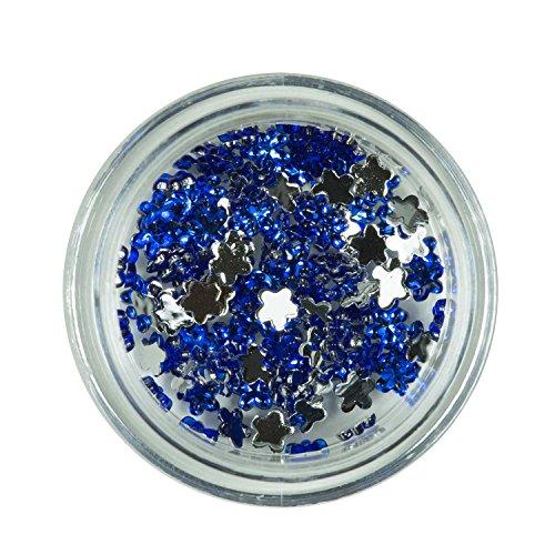 Strass Floral Bleu de pierres de strass avec décoration en cristal Rhinestones Nail Art