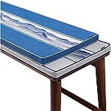 yzzseason Cojín de banco antideslizante de doble borde con lazo, cojín suave para silla de tumbona, cojín grande para asiento de jardín para interior y exterior (A,30 x 100 x 5 cm)