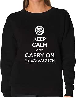 TeeStars - Keep Calm and Carry On My Wayward Son Women Sweatshirt