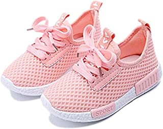 Daclay Children Casual Shoes Boy and Girl Cool Style Kids Mesh Breathable Soft Soled Running Sports Shoes (1 Little Kid, P...