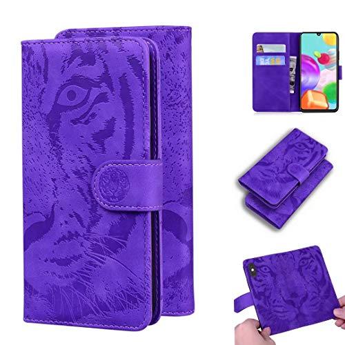 Lederhülle Handyhülle für Xiaomi Redmi Note 9, Redmi 10X 4G Hülle Leder, für Xiaomi Redmi Note 9 Tiger Klapphülle Wallet Silikon Schutzhülle, Handytasche für Xiaomi Redmi Note 9, Redmi 10X 4G Tasche